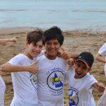 Friends meet at Taekwondo grading camp